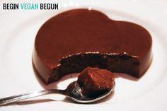 flan vegano de chocolate