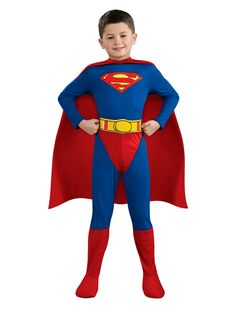 Child Licensed Superman Party Outfit New Fancy Dress Costume Superhero Kids Boys