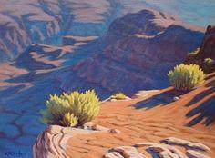 Arizona 'Morning Light' Grand Canyon original Landscape Painting, desert, oil,turquoise, desert, Southwestern decor, Southwest art