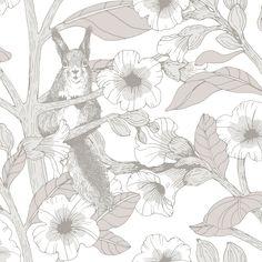 Toivo Grey wallpaper by Vallila