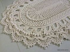Tapete oval modelo Russo – passo a passo – parte2   Croche.com.br brasilian crochet rug