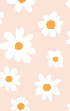 Pink and White Retro Daisy Floral Wallpaper Mural Wallpaper Pastel, Cute Patterns Wallpaper, Cute Wallpaper For Phone, Iphone Background Wallpaper, Aesthetic Pastel Wallpaper, Flower Wallpaper, Aesthetic Wallpapers, Cute Fall Wallpaper, Trendy Wallpaper