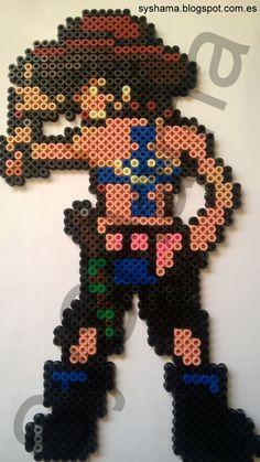 Ace One Piece hecho con Hama Beads MIDI. También hago otras figuras. Si estas interesado en otra en especial y quieres que la haga, contacta conmigo: syshama6@gmail.com