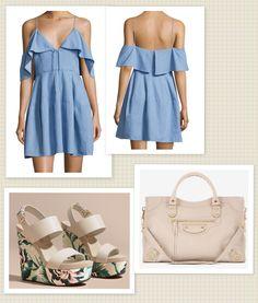 Dress: Nicholas Bag: Balenciaga  Shoes: Burberry