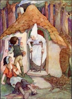 """Hansel and Gretel. From """"Grimm's Fairy Tales"""" illustrated by Anne Anderson Fantasy Kunst, Fantasy Art, Hansel Y Gretel, Hermann Hesse, Vintage Fairies, Grimm Fairy Tales, Fairytale Art, Children's Book Illustration, Folklore"""