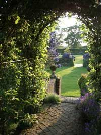 Town Place Garden in Sussex England Private Garden, English Countryside, Outdoor Landscaping, Garden Gates, Arches, Beautiful Gardens, Paths, Outdoor Living, Landscapes