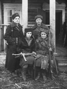 "Antifa! ""Uncredited Photographer Jewish Partisans Near Pinsk, Belorussia, USSR c.1944""..."