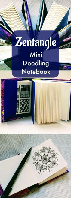 OMG these are so cute! I want one in every color Creative Doodling: Mini Sketchbook Zentangle Tile Doodling Notebooks ~ Mini Sketchbook, doodling, relaxation, art therapy, leather sketchbook, canvas, bound zentangle tiles, pattern suggestions, mindfulness gift #affiliate #zentangleart #sketchbook #doodling