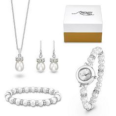 Secrets of the Sea Cultured Freshwater Pearl & Crystal Set
