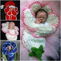 Newborn Knitted Bell Flower Crochet Pattern - It's not a free pattern but it's adorable.