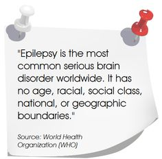 """Epilepsy is the most common serious brain disorder worldwide. Epilepsy Facts, Epilepsy Quotes, Epilepsy Awareness Month, Temporal Lobe Epilepsy, Epilepsy Seizure, Seizure Disorder, Purple Day, Seizures, Brain Injury"