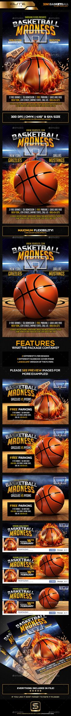 Basketball Tournament Flyer Fonts, Flyer template and Creative - basketball flyer example