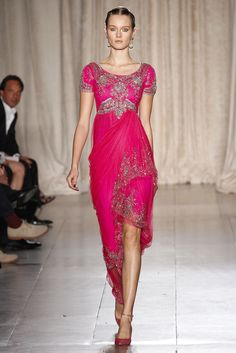 Marchesa Spring 2013 - not really my style, but love this. The color is amazing.