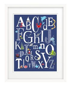 Look what I found on #zulily! Navy Nautical 'ABC' Giclée Print by Finny and Zook #zulilyfinds