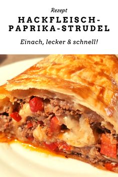 Strudel, Ketchup, Lasagna, Ethnic Recipes, Food, Ground Meat, Oven, Red Peppers, Fresh