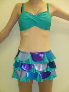 Disney Inspired Little Mermaid Figure skating dress by Icexquisite, $125.00