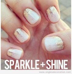 Déco sur ongles brillante | Décoration d'Ongles | Tout sur le Nail Art, la decóration dóngles et kes dessin sur ongles
