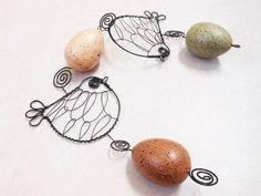 Závěs s ptáčky  vajíčkami