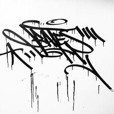 Bates (@greatbates) getting drippy with it . #bates #graffiti #handstyle //follow @handstyler on Instagram