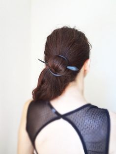 breakfast at tiffany 's Ebony wood  wood hair by theancientmuse, $43.00