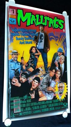"""MALLRATS (1995) Original Movie Poster • 27x40"""" Double Sided Kevin Smith Stan Lee"""