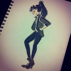 snarkies girl Illustration Sketch Inspiration