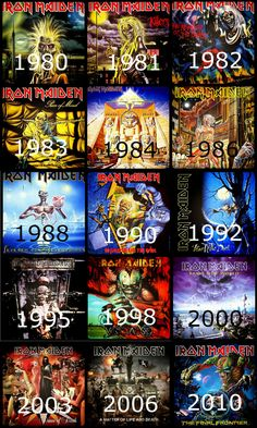 Iron Maiden + albums/years