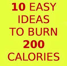 10 easy ideas to burn 200 calories - חיפוש ב-Google