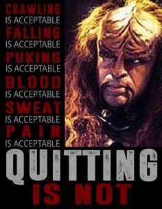 Listen to Worf Star Trek Tv, Star Wars, Nerd Stuff, Funny Stuff, Star Trek Symbol, Star Trek Quotes, Klingon Empire, Favorite Quotes, Favorite Things