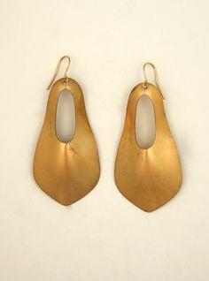 Ex Voto Vintage Jewelry Vintage Brass Earrings