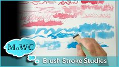 Exploring #watercolor #brushstrokes and Techniques for #painting By Steve Mitchell. The YouTube link has all the brushes named.  By name brand and size.