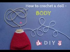 How to crochet a doll - LEGS TUTORIAL - Cherry Doll - YouTube