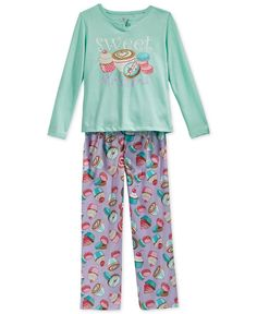 Sleep On It Girls' or Little Girls' 2-Piece Sweet Dreams Pajamas