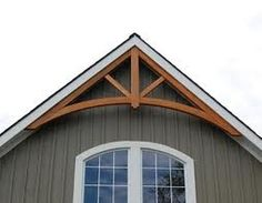 Adding Curb Appeal to Enhance Your Home House Trim, House Siding, Gable Trim, Gable Window, Porch Gable, Gable Decorations, Roof Trusses, Exterior Remodel, The Ranch