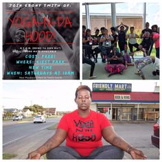 "YOGA N DA HOOD Every quarter 5% of our memberships go to a good cause, this quarter we are supporting Yoga N Da Hood. Yoga N Da Hood is a non profit organization that strives to inspire wellness in the ""HOOD""! On Oct 1st, Danielle will be in Dallas giving Ebony a donation from DragonFit. Love & Light!"