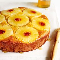 Pineapple Upside-Down Cake - from Lakeland Delicious Cake Recipes, Easy Cake Recipes, Yummy Cakes, Baking Recipes, Macmillan Coffee Morning Cakes, English Cake Recipe, British Bake Off Recipes, Pineapple Upside Down Cake, Mary Berry Upside Down Cake