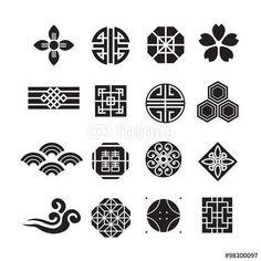 Mahjong - symbols White Things white q color es Chinese Logo, Chinese Design, Chinese Symbols, Japanese Design, Chinese Art, Chinese Icon, Icon Design, Logo Design, Graphic Design