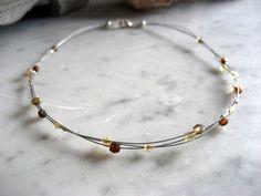Moois van ' M(i)e': juwelen/jewelry - MAAK HET ZELF / MAKE IT YOURSELF : project : zwevende meerdradige ketting/ floating multi string necklace