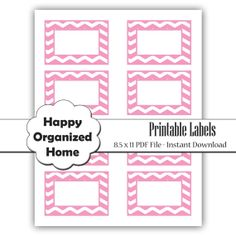 Instant Download  Chevon Printable Labels by HappyOrganizedHome, $4.00