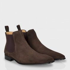 Paul Smith Men's Shoes - Brown Suede Falconer Chelsea Boots