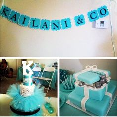 Hosted a Tiffany & Co Baby Shower for bro & sis-n-law at our house
