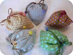 """Les petits sacs """"écolo-coeur"""" - mes collections... trois petits points"""
