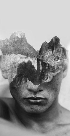 Retratos que mezclan seres humanos con naturaleza. Es totalmente surreal