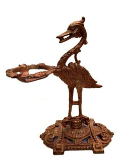 Rare Antique Bird Ashtray Tabletop Stand Cast Iron Art Deco 10 in Tall     Antiques, Periods & Styles, Art Deco   eBay!
