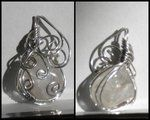 Clear Stone Wire Wrap Pendant by *Zorias on deviantART