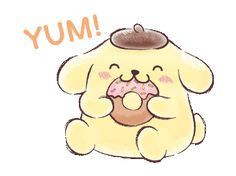 LINE Official Stickers - Pompompurin (Watercolor Style) Example with GIF Animation Cartoon Stickers, Kawaii Stickers, Cartoon Gifs, Cute Cartoon, Happy Stickers, Japanese Cartoon, Cute Anime Wallpaper, Sanrio Characters, Cute Little Things