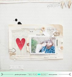 #papercraft #scrapbook #layout  2peas you and me - Marcy Penner <3
