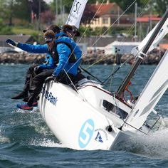 HH Ambassadors @ melges.dk really hang out on the sail boat!  Blue dry tops and black lifevests look sharp.
