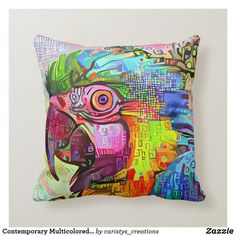 Funky Decor, Eclectic Decor, Quilted Pillow, Custom Pillows, Knitted Fabric, Your Design, The Neighbourhood, Cottage, Patio
