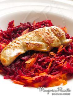 Salada de Beterraba com Cenoura, para ver a receita clique na imagem para ir ao Manga com Pimenta.
